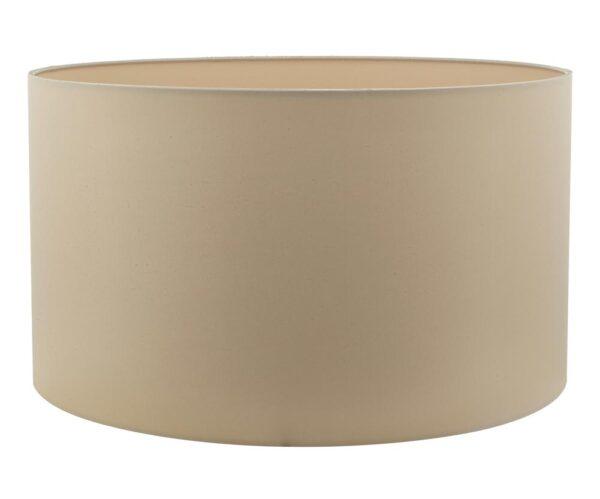 Dar Hilda 40cm Taupe Faux Silk Fabric Drum Table Lamp Shade