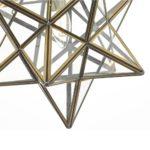 Dar Ilario Large 1 Light Star Pendant Ceiling Lantern Antique Brass