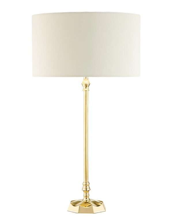 Dar Iowa Small Solid Natural Brass 1 Light Table Lamp Base Only