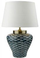 Dar Joy Porcelain Table Lamp Base Only Blue White Fish