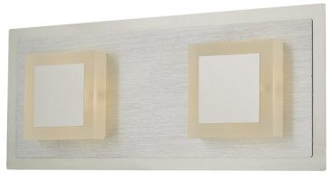 Dar Kris Switched 2 Light LED Wall Light Dual Chrome