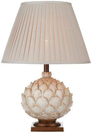 Dar Layer Large Ceramic Artichoke Table Lamp Stone Shade