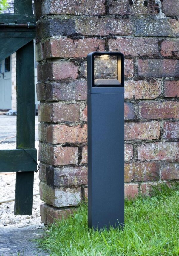 Dar Malone Modern 5w LED Outdoor Post Light Anthracite IP65