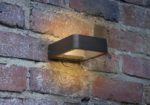 Dar Malone Modern 5w LED Square Outdoor Wall Light Anthracite IP65