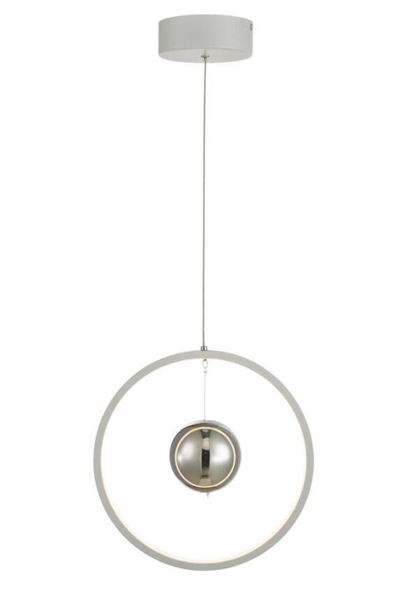Dar Mercury 18w LED Vertical Ring Pendant Ceiling Light Matt White
