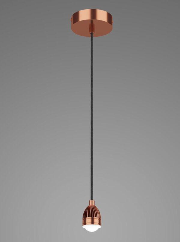 Dar Modular 13w LED Pendant Ceiling Light Cable Set Satin Copper