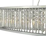 Dar Nantes Bar Ceiling Pendant 5 Light Chrome Aluminium Acrylic Drops