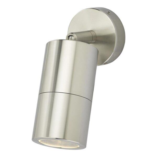 Dar Ortega 1 Light Adjustable Outdoor Wall Spot Light Aluminium IP65