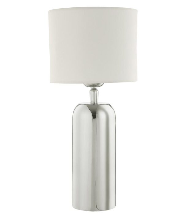 Dar Rifle Small 1 Light Polished Stainless Steel Table Lamp Base Only