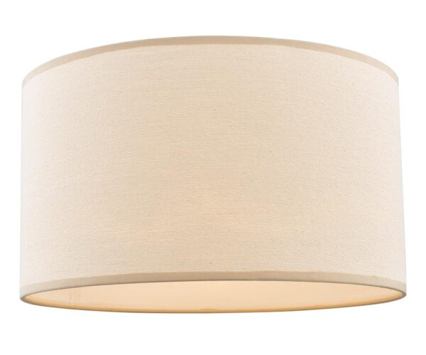 Dar Tuscan Strung Taupe Cotton 40cm Drum Floor/Table Lamp Shade E27
