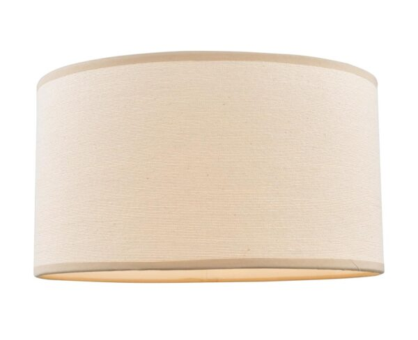 Dar Tuscan Taupe cotton 30cm drum table lamp shade main image