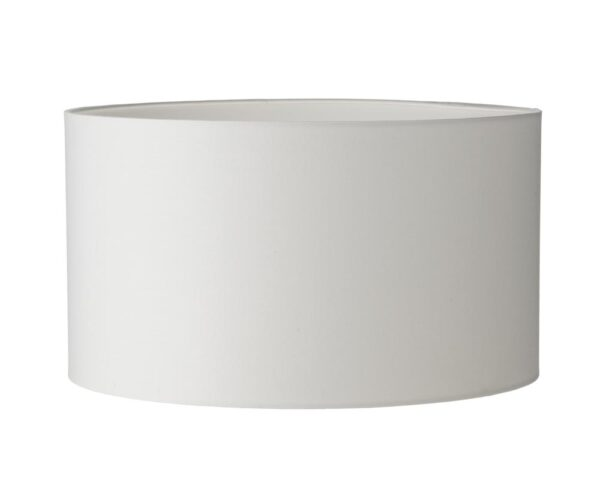 Dar Tuscan Smooth Ivory Cotton 30cm Drum Table Lamp Shade E27
