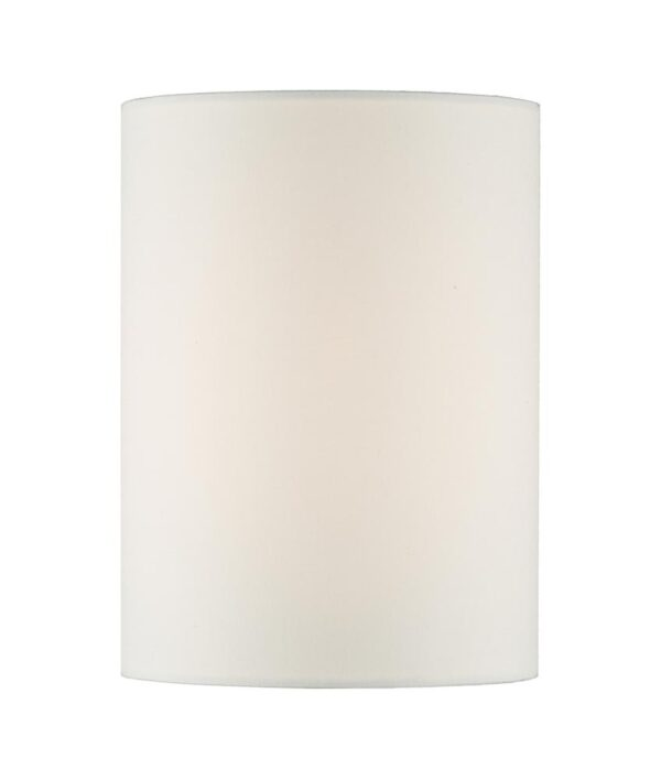 Dar Tuscan Smooth Ivory Cotton 13cm Cylinder Wall Light Shade E27