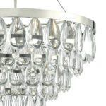 Dar Sceptre Chrome 3 Lamp Pendant Ceiling Light Glass Pebble Drops