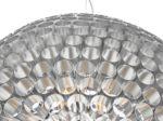 Dar Serafina Large 6 Light Tube Globe Ceiling Pendant Brushed Chrome