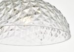 Dar Tobin Small Easy Fit Ceiling Lamp Shade Faceted Clear Acrylic