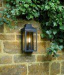 Dar Vapour Classic 1 Light Outdoor Wall Coach Lantern Matt Black IP44