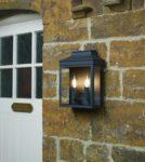 Dar Vapour Large Classic 2 Light Outdoor Wall Coach Lantern Matt Black