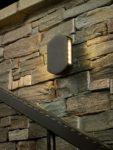 Dar Vulcan Modern 2 Light LED Outdoor Wall Washer Light Gunmetal IP44