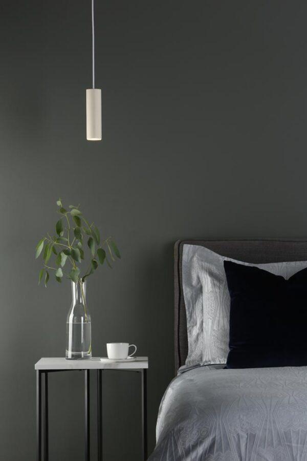 Dar Yari Ultra-Modern 11w LED Pendant Ceiling Light Satin White