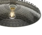 Dar Yatima Large Easy Fit Ceiling Lamp Shade Faceted Smoked Acrylic