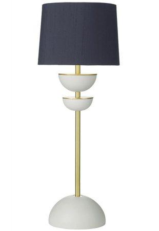 David Hunt Lunar Small Table Lamp Solid Brass Bespoke Silk Shade