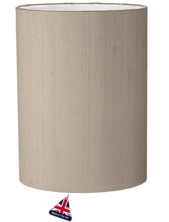 David Hunt Cylinder Silk 25cm White Lined Shade Choice 12 Colours