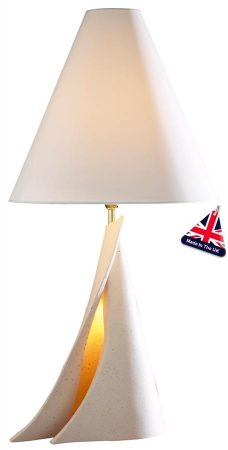 David Hunt Ophelia Contemporary Table Lamp Oyster Shade