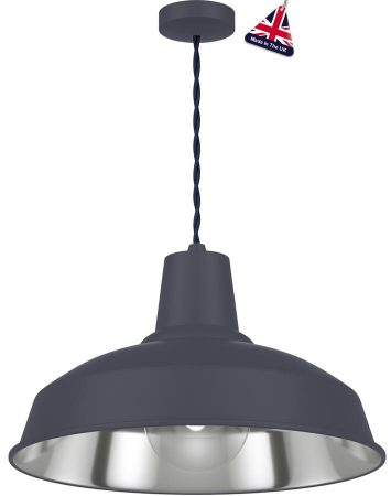David Hunt Reclamation 1 Light Ceiling Pendant Smoke Blue