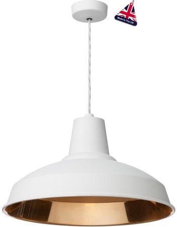 David Hunt Reclamation 1 Light Ceiling Pendant Arctic White