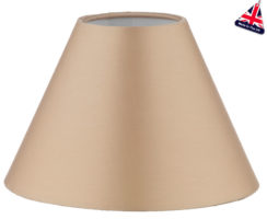 Spearhead 16cm Gold Silk Tapered Clip On Candle Lamp Shade