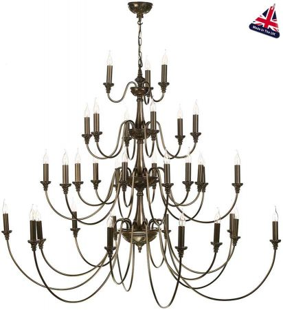 David Hunt Bailey 33 Light Extra Large 4 Tier Chandelier Rich Bronze