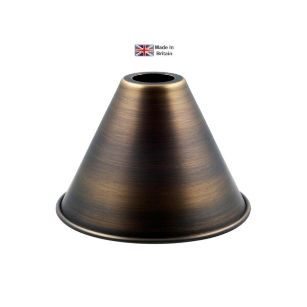 David Hunt Verona Solid Antique Brass 14cm Clip On Candle Lamp Shade