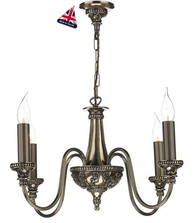David Hunt Bailey 4 Light Chandelier Rich Bronze Traditional