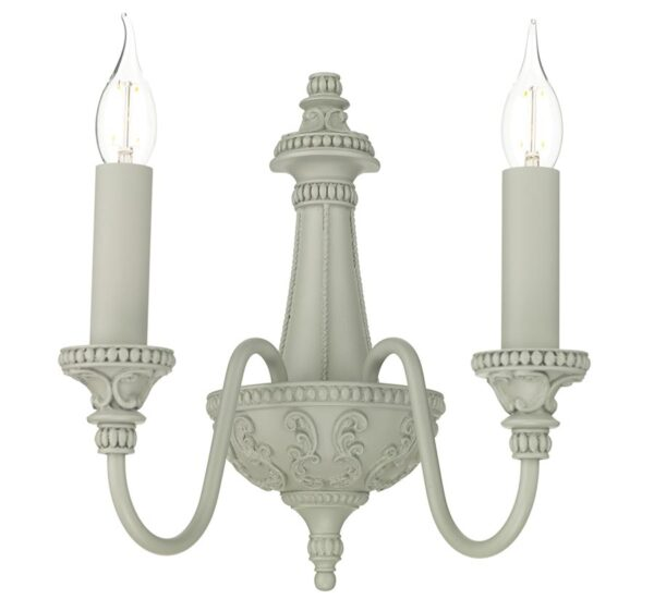 David Hunt Bailey Double Wall Light Ash Grey Traditional