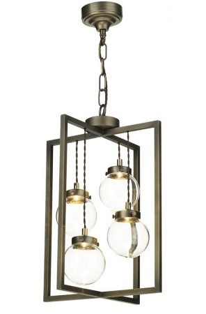 David Hunt Chiswick 4 Light LED Ceiling Pendant Antique Brass