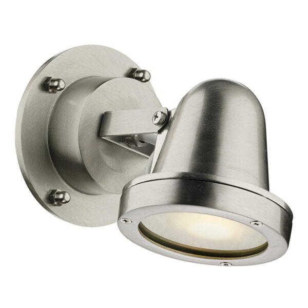 David Hunt Cove Nickel Plated Solid Brass 1 Light Outdoor Spotlight IP44