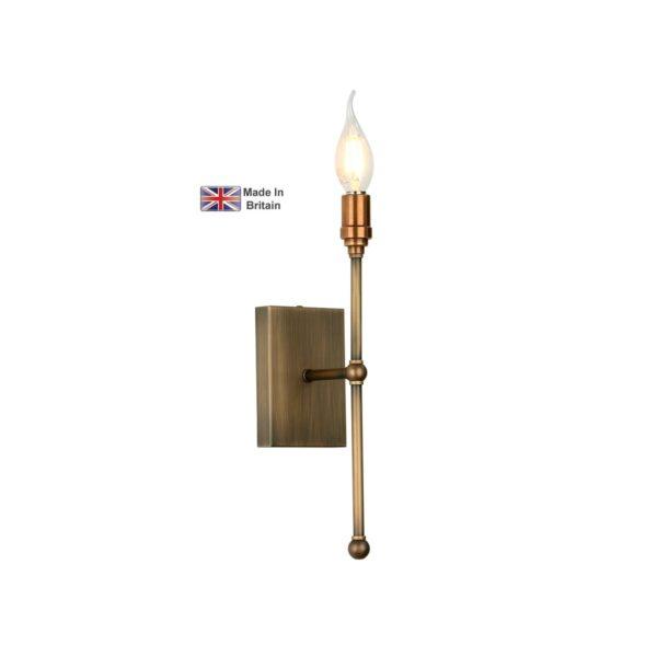 David Hunt Durrell Handmade 1 Lamp Candlestick Wall Light Solid Brass