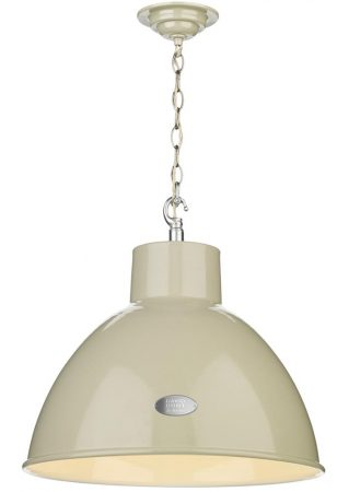 David Hunt Utility Large Pendant Ceiling Light French Cream