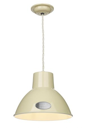 David Hunt Utility Small Pendant Ceiling Light French Cream