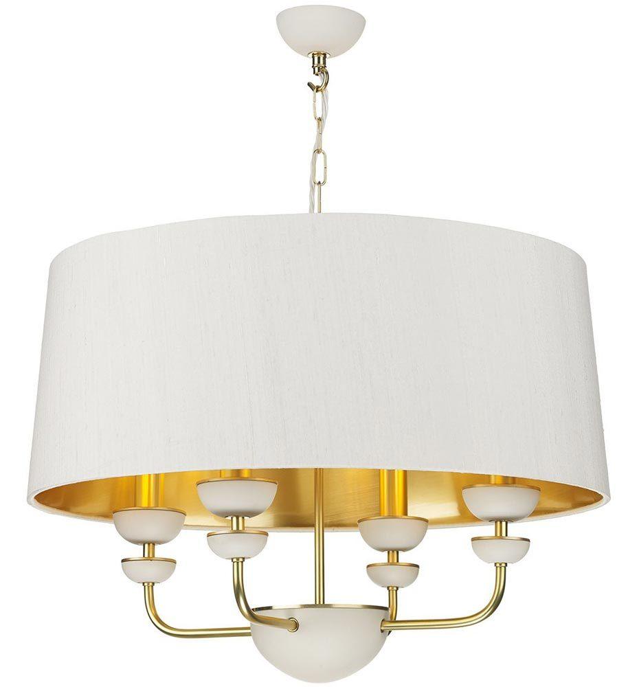 David hunt lunar 4 light solid brass ceiling pendant bespoke shade
