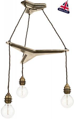 David Hunt Propellor Vintage 3 Light Suspension Bronze