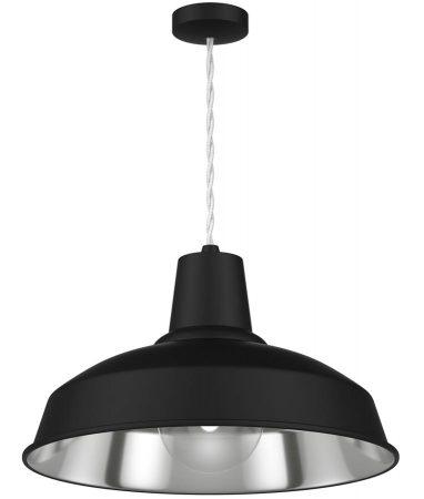 David Hunt Reclamation 1 Light Ceiling Pendant Black Chrome Inner