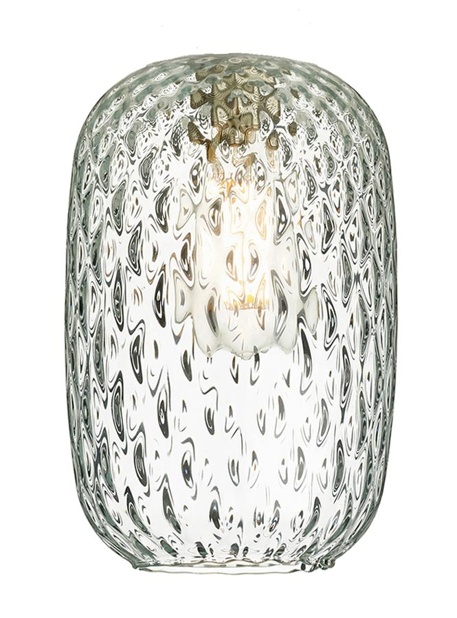 David Hunt Vidro Small Clear Dimpled, Replacement Glass Lamp Shades For Floor Lamps Uk