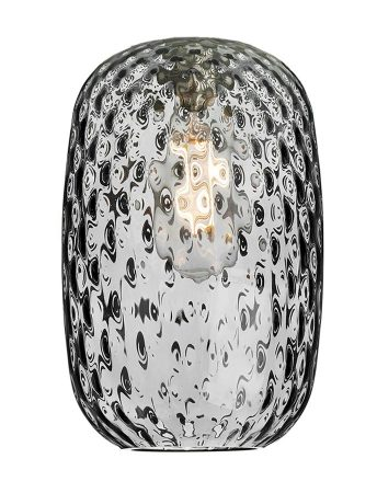 David Hunt Vidro Small Smoked Dimpled Glass Pendant Lamp Shade