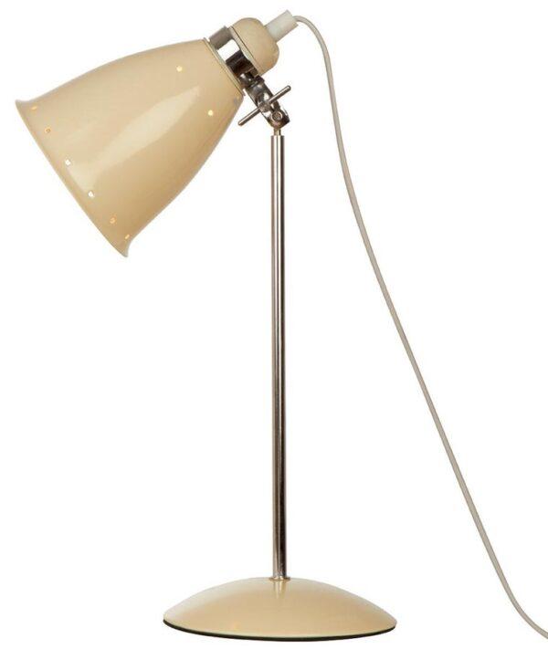 Kafe Retro Style Adjustable Desk Lamp Cream / Polished Chrome