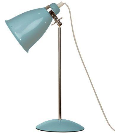 Kafe Retro Style Adjustable Desk Lamp Surf Blue / Polished Chrome