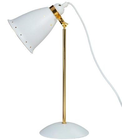 Kafe Deluxe Retro Style Adjustable Desk Lamp White / Gold