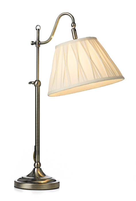 Dar Suffolk Traditional Desk or Bedside Table Reading Lamp SUF4075/X