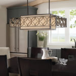 Feiss Remy Art Deco Style Large 4 Light Designer Pendant